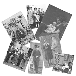 Collage von Familienbildern